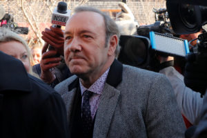 FILE PHOTO: Actor Kevin Spacey arrives to face a sexual assault charge at Nantucket District Court in Nantucket, Massachusetts, on January 7, 2019. Photo by Brian Snyder/Reuters