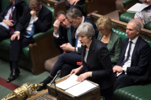 Britain's Prime Minister Theresa May speaks at the House of Commons in London, Britain May 22, 2019. ©UK Parliament/Jessica Taylor/Handout via Reuters