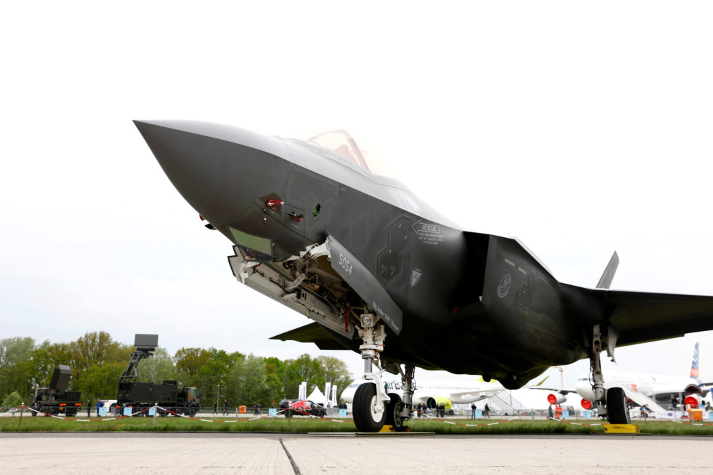 FILE PHOTO: A Lockheed Martin F-35 aircraft is seen at the ILA Air Show in Berlin, Germany, April 25, 2018. Photo by Axel Schmidt/Reuters