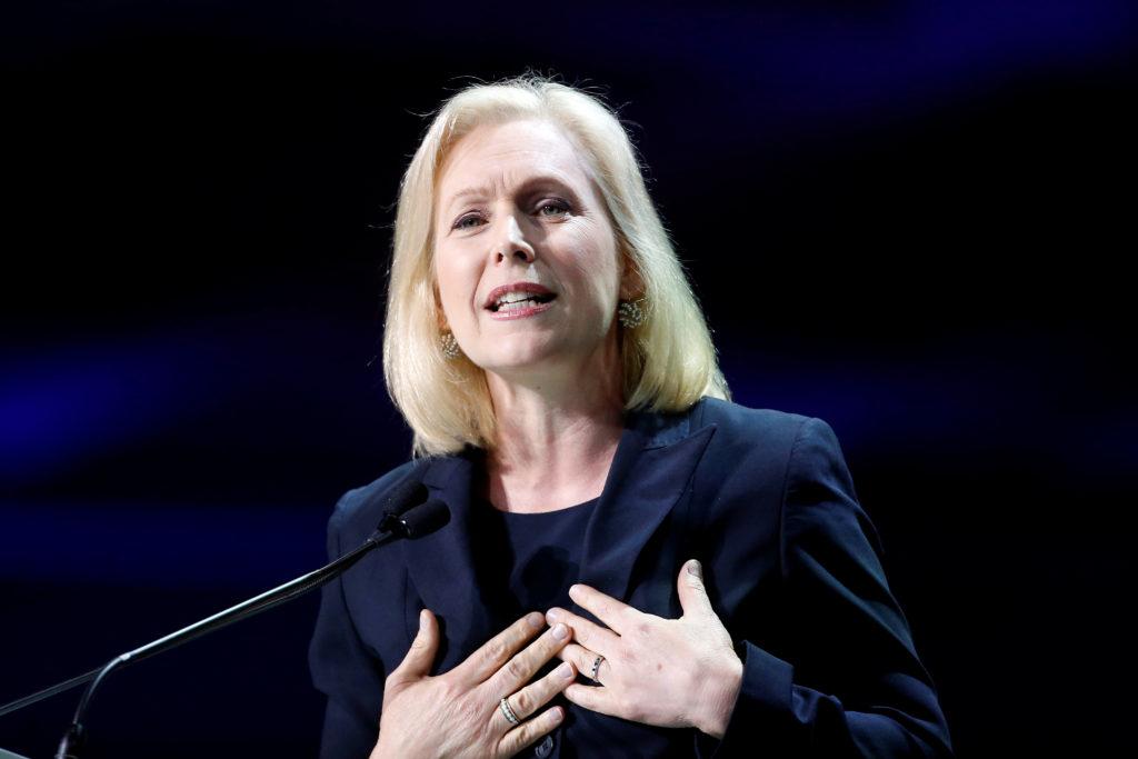 Democratic presidential candidate and U.S. Senator Kirsten Gillibra…