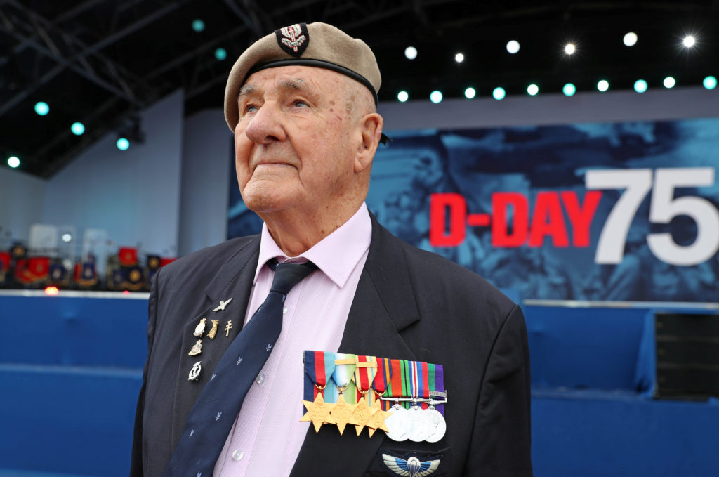 Veteran Bertie Billet attends the D-Day 75 National Commemorative event in Portsmouth, Britain, June 5, 2019. Photo by Chris Jackson/Pool via Reuters