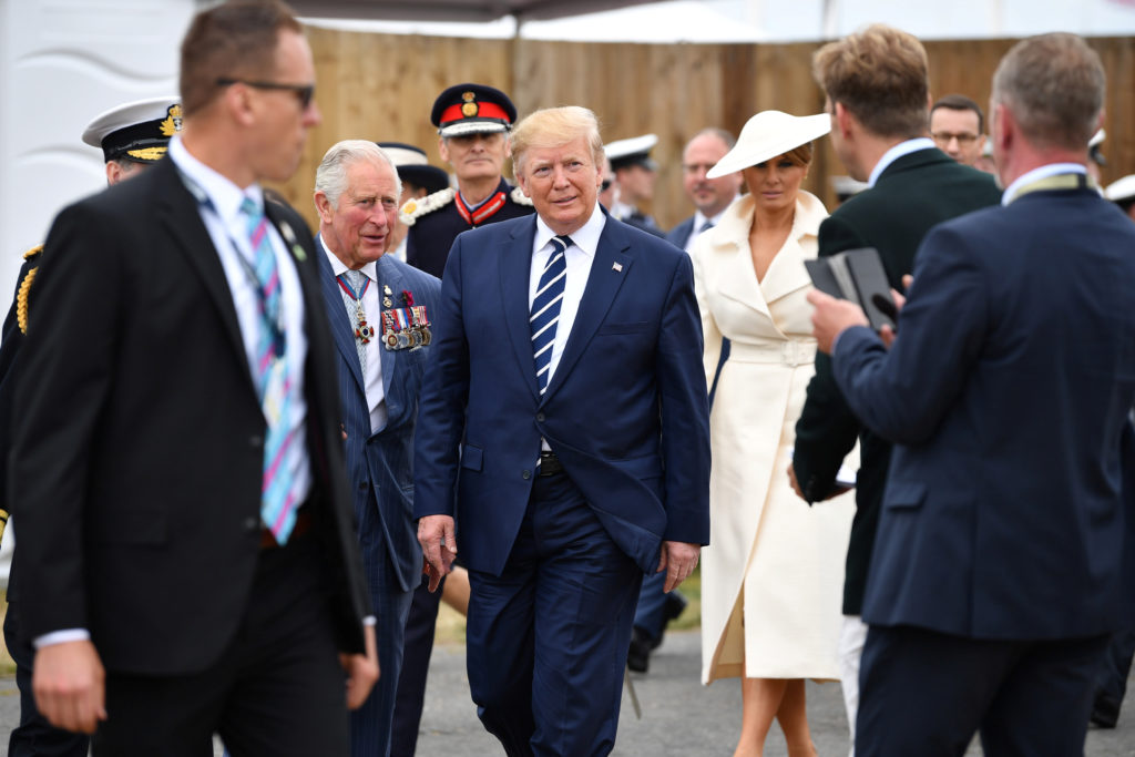 Britain's Prince Charles and U.S. President Donald Trump attend an …