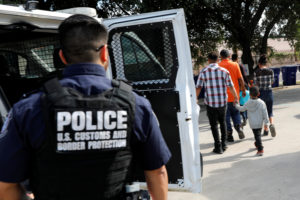 """Central Americans arrive at the Catholic shelter """"San Francisco Javier Church"""", which gives temporary shelter to asylum-seekers from Central America countries released by ICE and U.S. Customs and Border Protection (CBP) due to overcrowded facilities, in Laredo, Texas, on June 4, 2019. Photo by REUTERS/Carlos Jasso"""