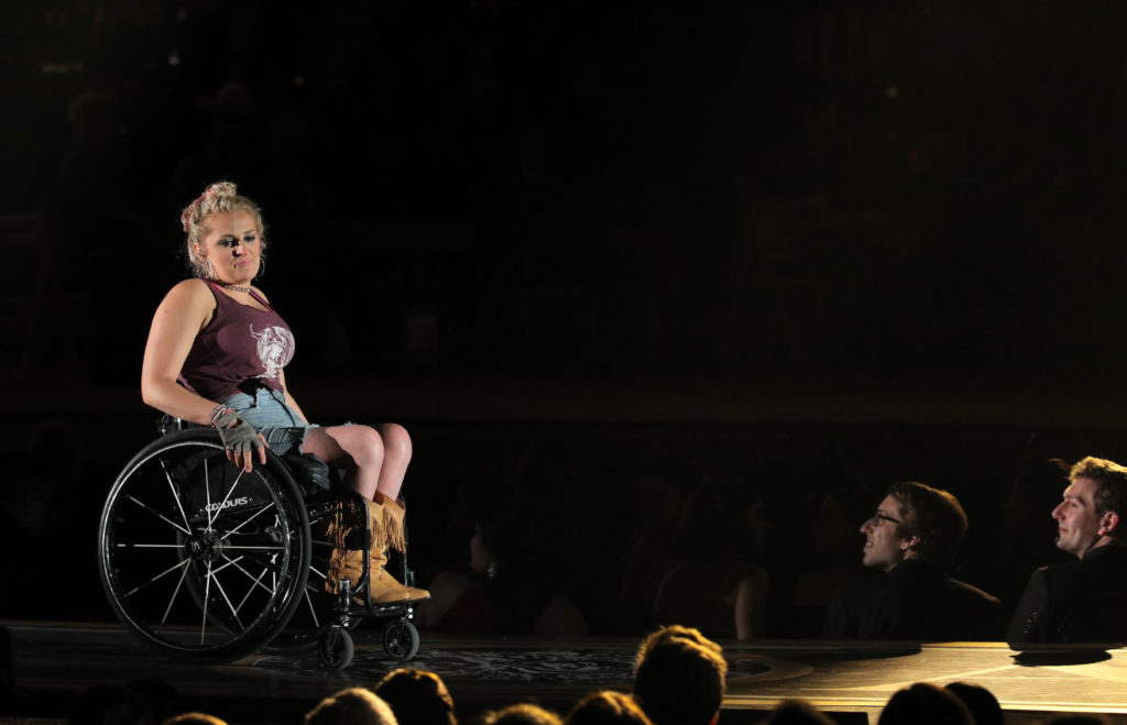 Ali Stroker performs a song from Rodgers and Hammerstein's