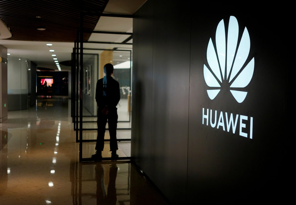 A Huawei company logo is seen at a shopping mall in Shanghai, China June 3, 2019. Photo by Aly Song/Reuters