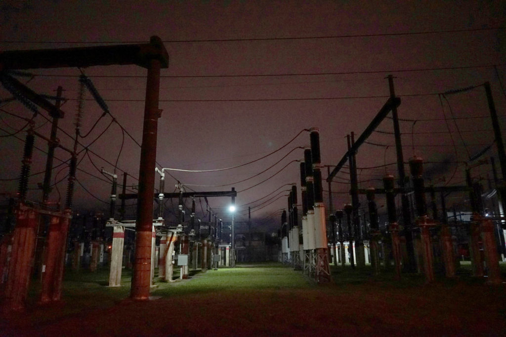 Power sub-station UTE Ramon Anador is seen working partially in the neighbourhood Parque Batlle after a massive blackout in Argentina cut electricity to much of neighbouring Uruguay and swaths of Paraguay, in Montevideo, Uruguay June 16, 2019. Photo by Mariana Greif/Reuters