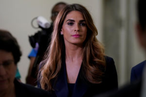 Former White House Communications Director Hope Hicks arrives for a closed door interview before the House Judiciary Committee on Capitol Hill in Washington, U.S., June 19, 2019. Photo by Aaron P. Bernstein/Reuters