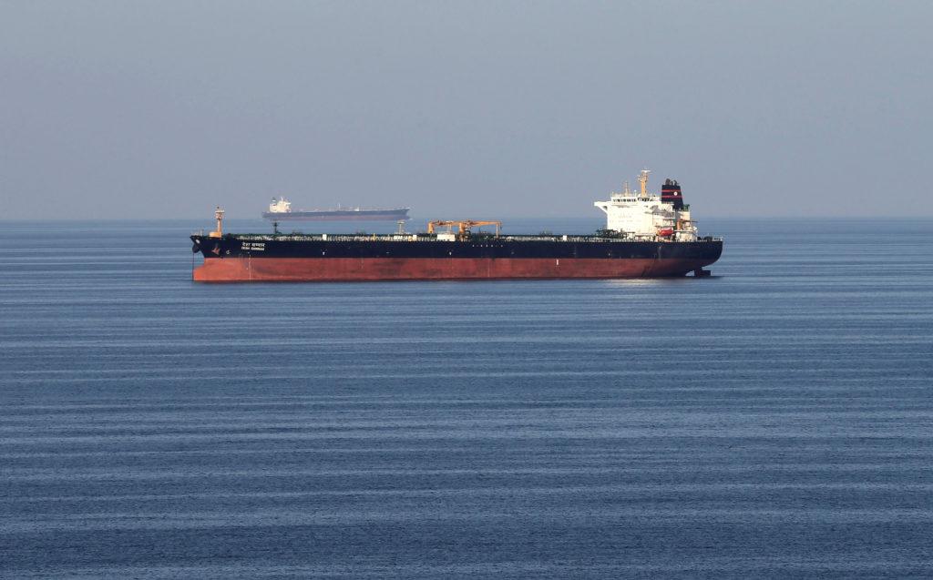 Oil tankers pass through the Strait of Hormuz, on December 21, 2018…