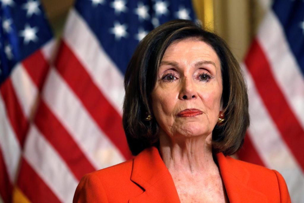 U.S. House Speaker Nancy Pelosi (D-CA) declines questions from jour…