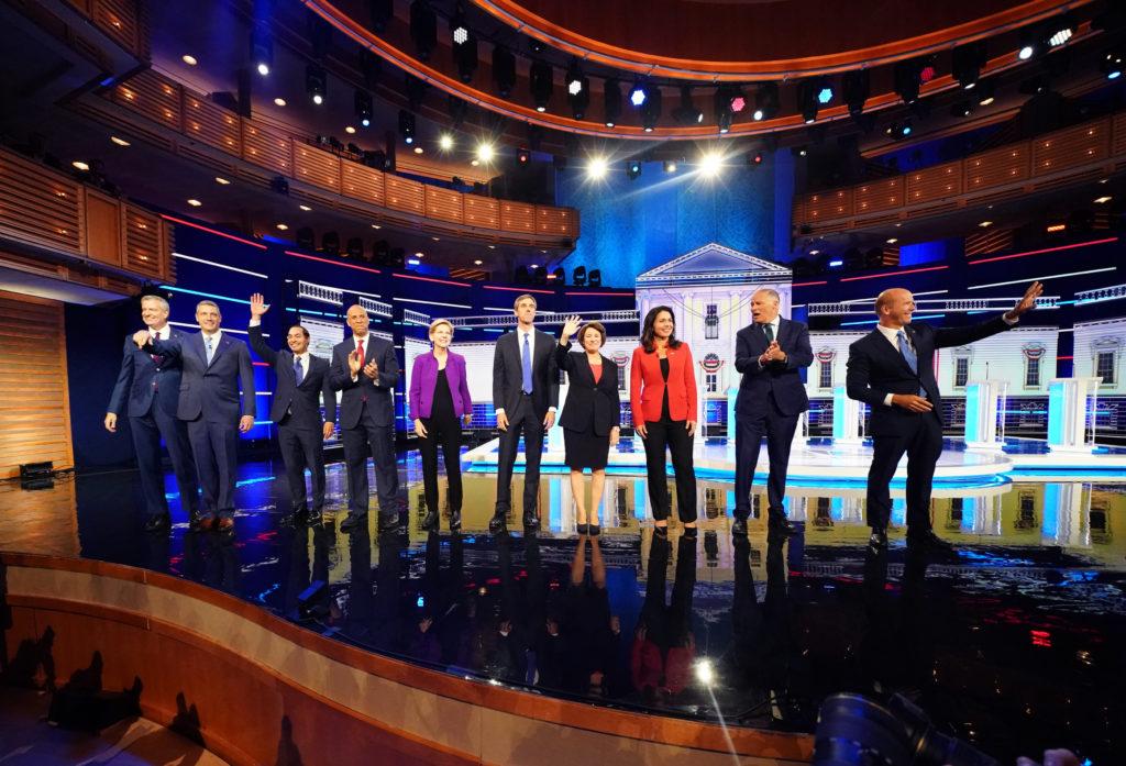 Democratic 2020 presidential candidates New York City Mayor Bill de…
