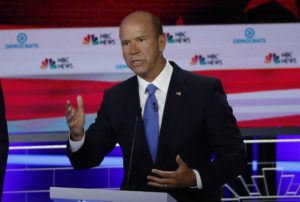 Former U.S. Rep. John Delaney speaks during the first U.S. 2020 presidential election Democratic candidates debate in Miami, Florida, on June 26, 2019. Photo by Mike Segar/Reuters