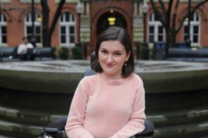 Anna Landre is a Georgetown University student who lives with spinal muscular atrophy. Photo courtesy of Anna Landre