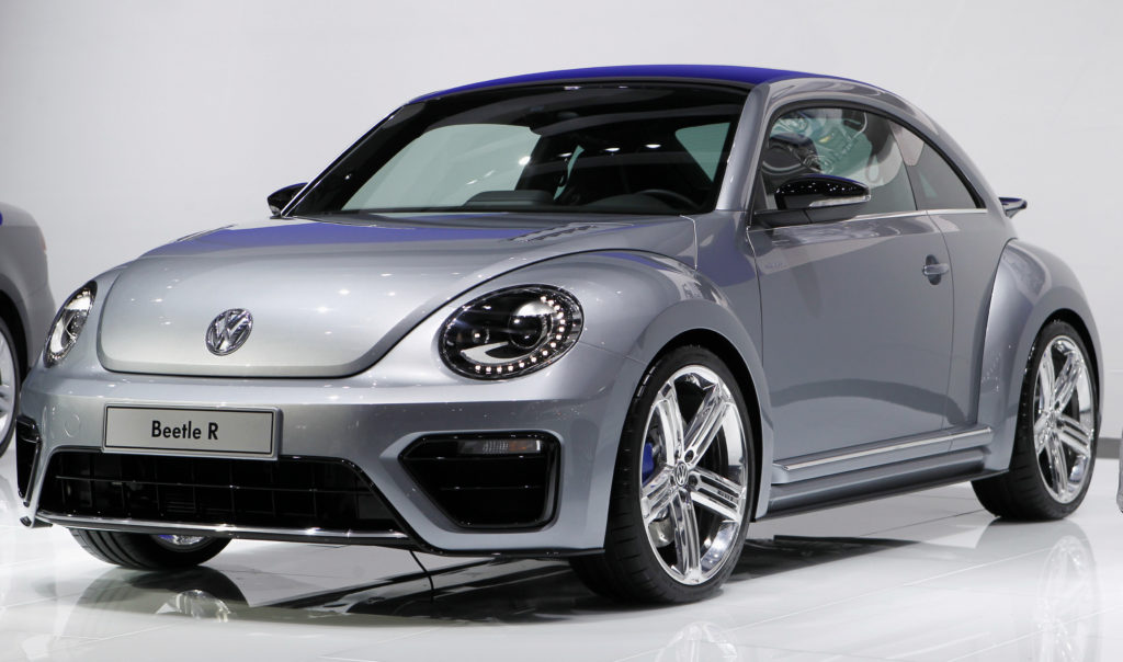 The Volkswagen Beetle R concept car is seen at the LA Auto Show in Los Angeles November 16, 2011. Photo by Danny Moloshok/Reuters