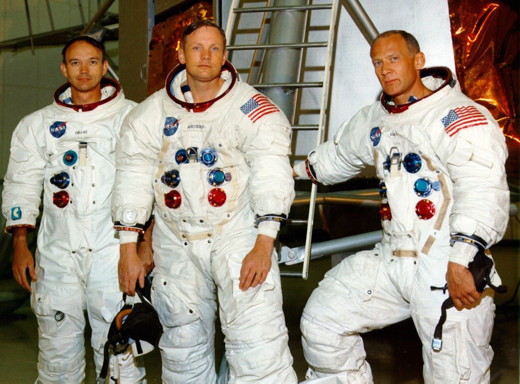 Apollo 11 astronauts return to launch pad 50 years later