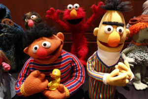 Puppets Ernie and Bert from Sesame Street are seen after they were donated to the National Museum of American History to the Smithsonian's National Museum of American History in Washington September 24, 2013. Photo by Larry Downing/Reuters
