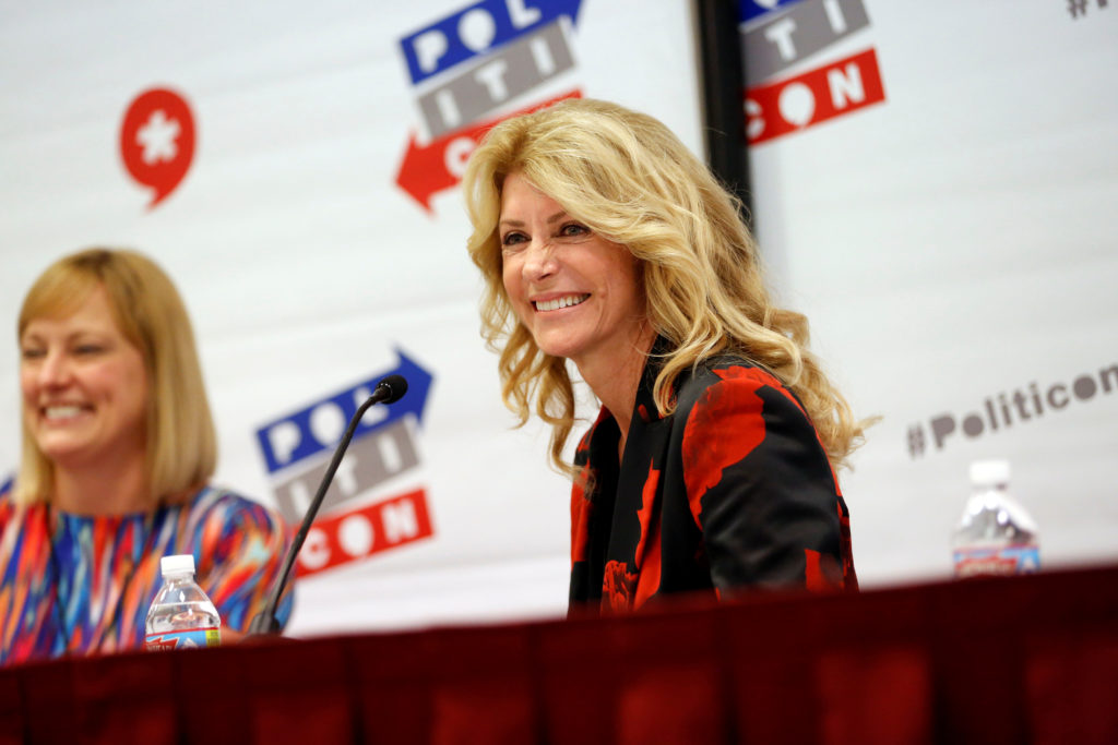 "Former Texas state Senator Wendy Davis smiles during the ""Politicon"" convention in Pasadena, California, on June 25, 2016. Photo by Patrick T. Fallon/Reuters"