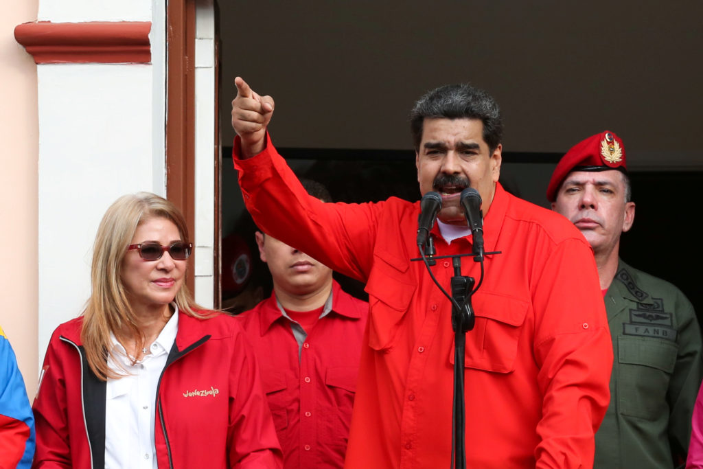 Venezuela's President Nicolas Maduro attends a rally in support of …
