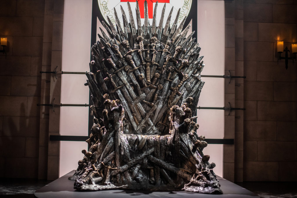 The Iron Throne sits on display at an interactive Game Of Thrones installation called Bleed For The Throne at the South by Southwest (SXSW) conference and festivals in Austin, Texas,, in March. Photo by Sergio Flores/Reuters