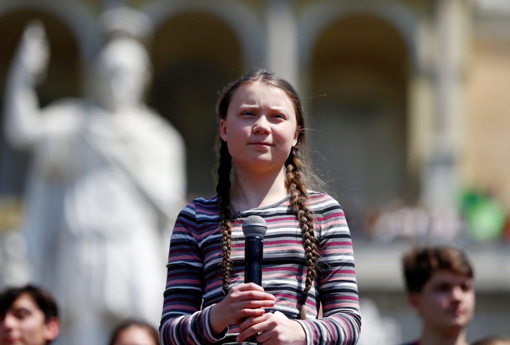 Swedish environmental activist Greta Thunberg joins Italian student…