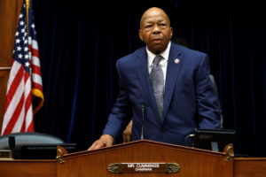 House Oversight and Reform Committee chairman Rep. Elijah Cummings (D-MD) arrives at the committee contempt votes on whether to find Attorney General William Barr and Commerce Secretary Wilbur Ross in contempt of Congress for withholding Census documents on Capitol Hill in Washington, D.C., June 12, 2019. Photo by Yuri Gripas/Reuters