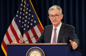 Federal Reserve Chairman Jerome Powell holds a news conference following a two-day Federal Open Market Committee meeting in Washington, U.S., June 19, 2019. Photo by REUTERS/Kevin Lamarque