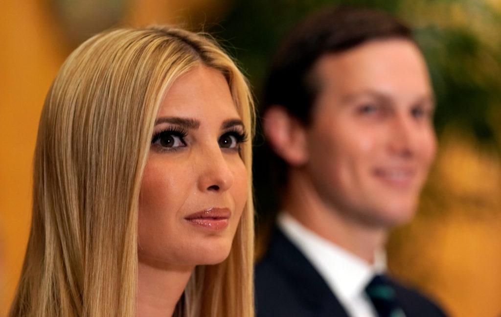 White House senior advisors Ivanka Trump and Jared Kushner attend a…