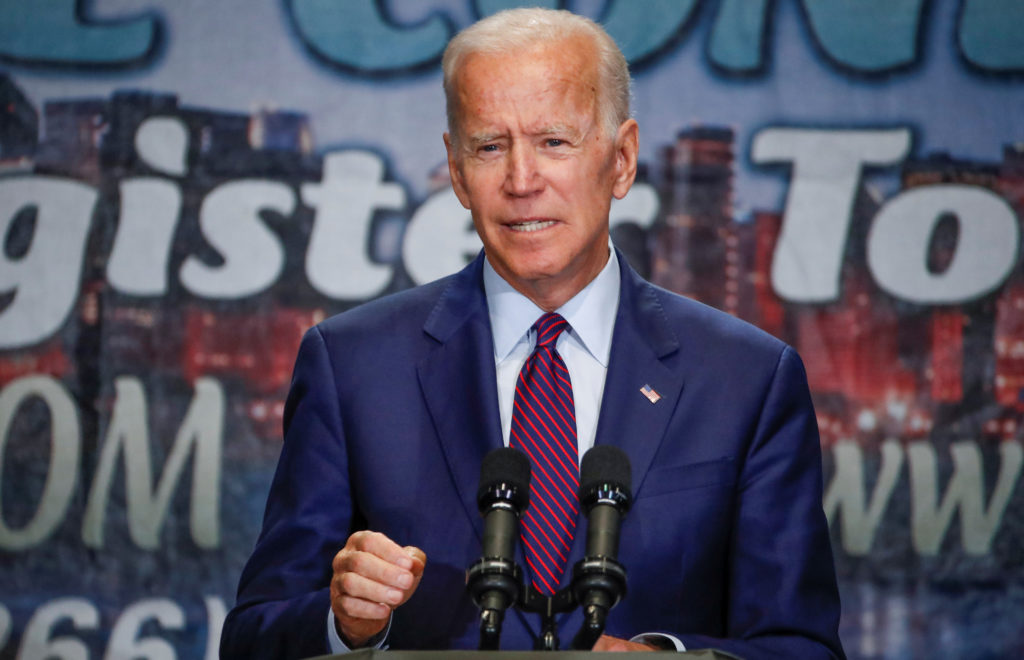 Democratic 2020 U.S. presidential candidate and former Vice Preside…