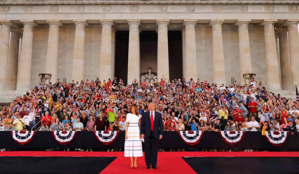 In July 4th speech, Trump says U.S. 'stronger than it ever was before'