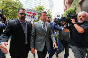 U.S. congressman Duncan Hunter (R-CA) arrives for a motions hearing in his upcoming campaign financing trial at federal court in San Diego, California, U.S. July 8, 2019. Photo by Mike Blake/Reuters