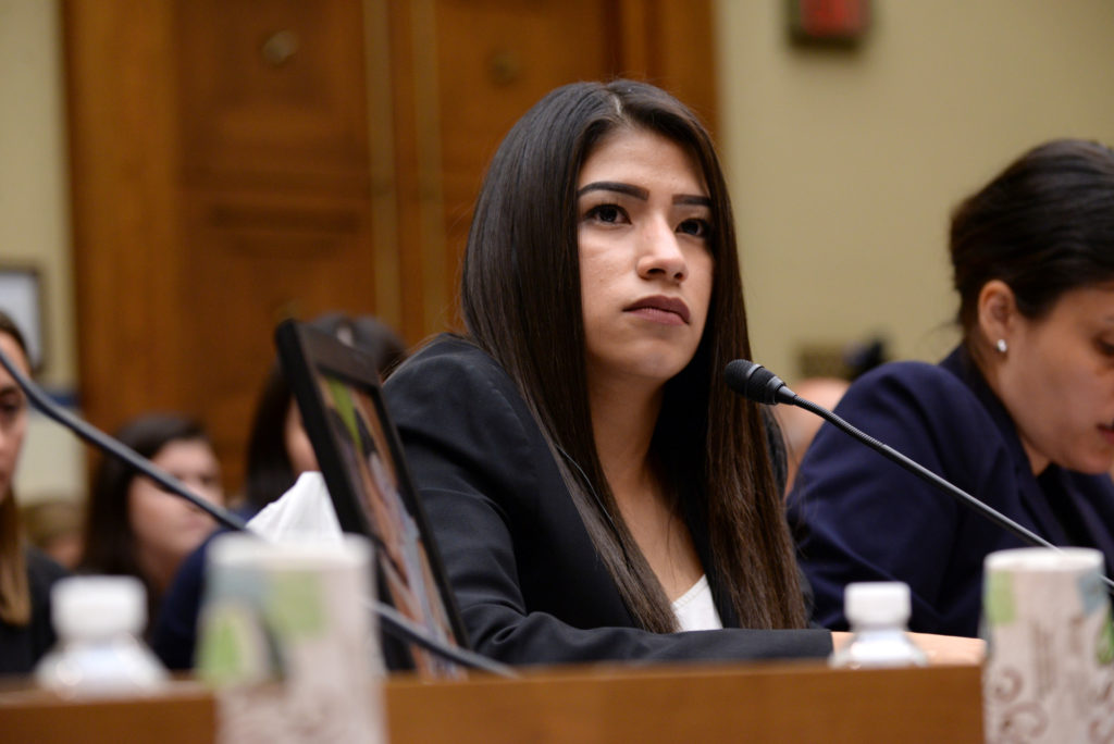 Yazmin Juarez, mother of 19-month-old Mariee, who died after detention by U.S. Immigration and Customs Enforcement (ICE), ...