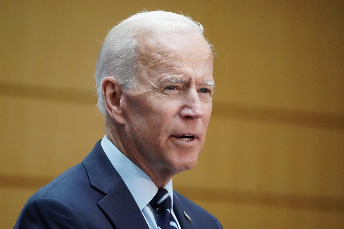 Democratic 2020 U.S. presidential candidate and former Vice President Joe Biden speaks at The Graduate Center of CUNY in the Manhattan borough of New York, on July 11, 2019. Photo by Carlo Allegri/Reuters