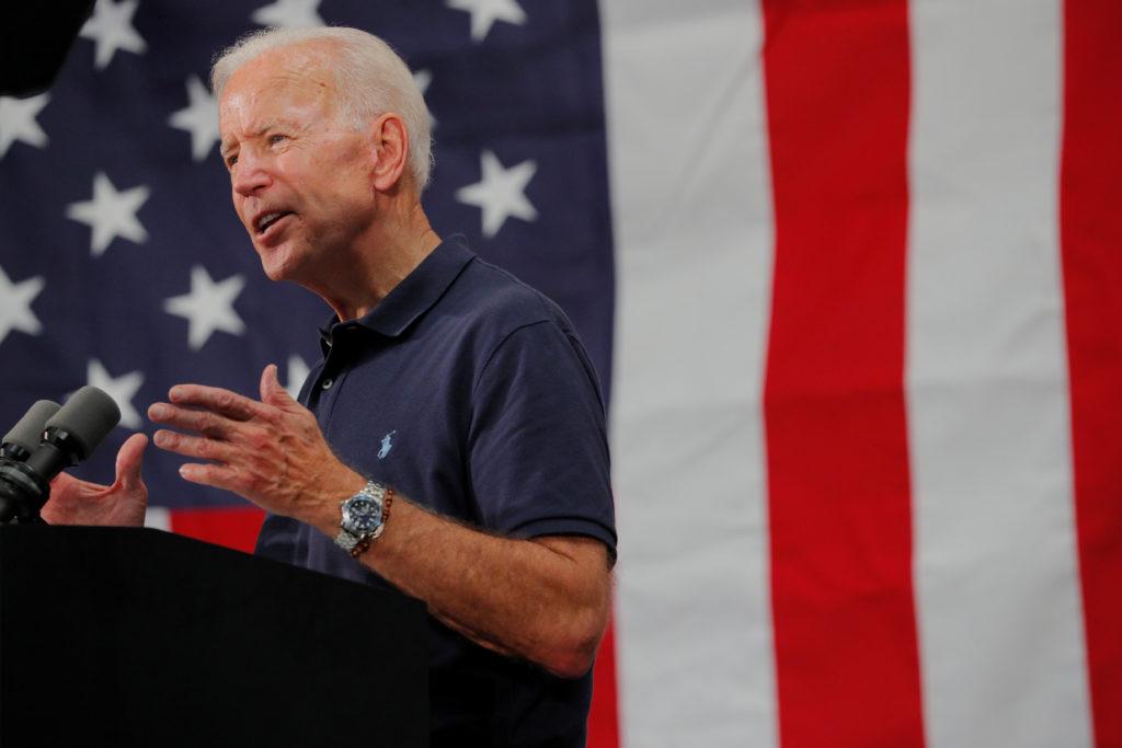 Democratic 2020 U.S. presidential candidate and former U.S. Vice Pr…
