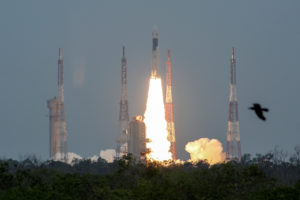 India's Geosynchronous Satellite Launch Vehicle Mk III-M1 blasts off carrying Chandrayaan-2, from the Satish Dhawan Space Centre at Sriharikota, India, July 22, 2019. Photo by P. Ravikumar/Reuters