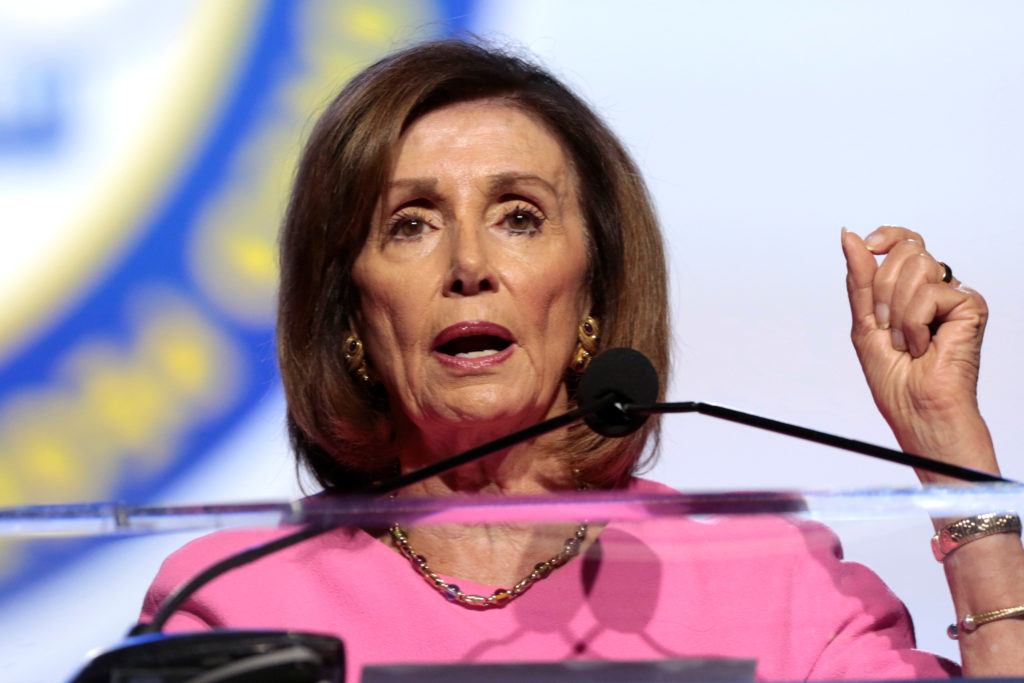 U.S House of Representatives Speaker Nancy Pelosi delivers remarks at the opening plenary session of the National Association of the Advancement for Colored People's annual convention in Detroit, Michigan, U.S. July 22, 2019. Photo by: Rebecca Cook/Reuters