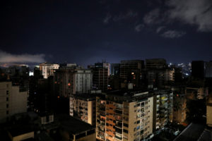 A general view is seen during a blackout in Caracas, Venezuela July…