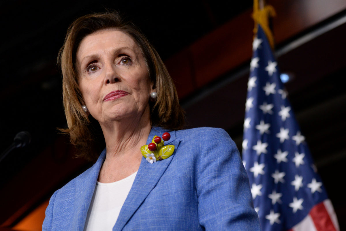 U.S. Speaker of the House Nancy Pelosi (D-CA) holds a weekly news conference with Capitol Hill reporters in Washington, on July 26, 2019. Photo by Erin Scott/Reuters