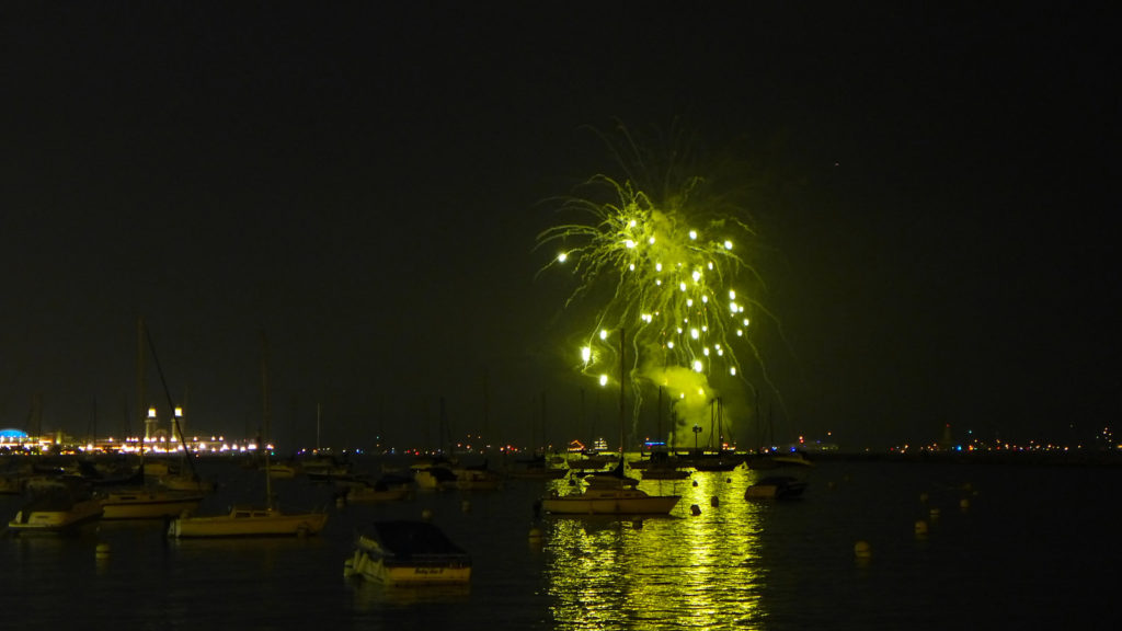 Fireworks from the Navy Pier in Chicago. Photo by: Marty Gabel via Flickr.