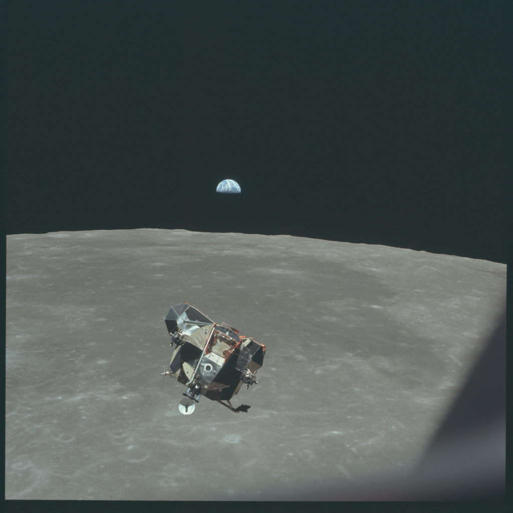 Apollo 11 lunar module rendezvous. Photo by NASA