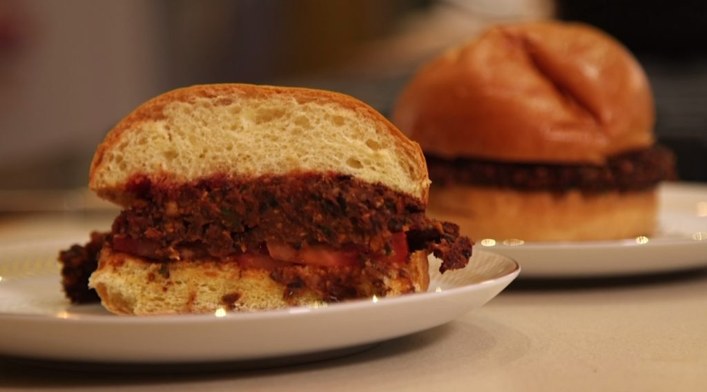 Mark Bittman's recipe for black bean burgers, McBitty's Bean Burgers.