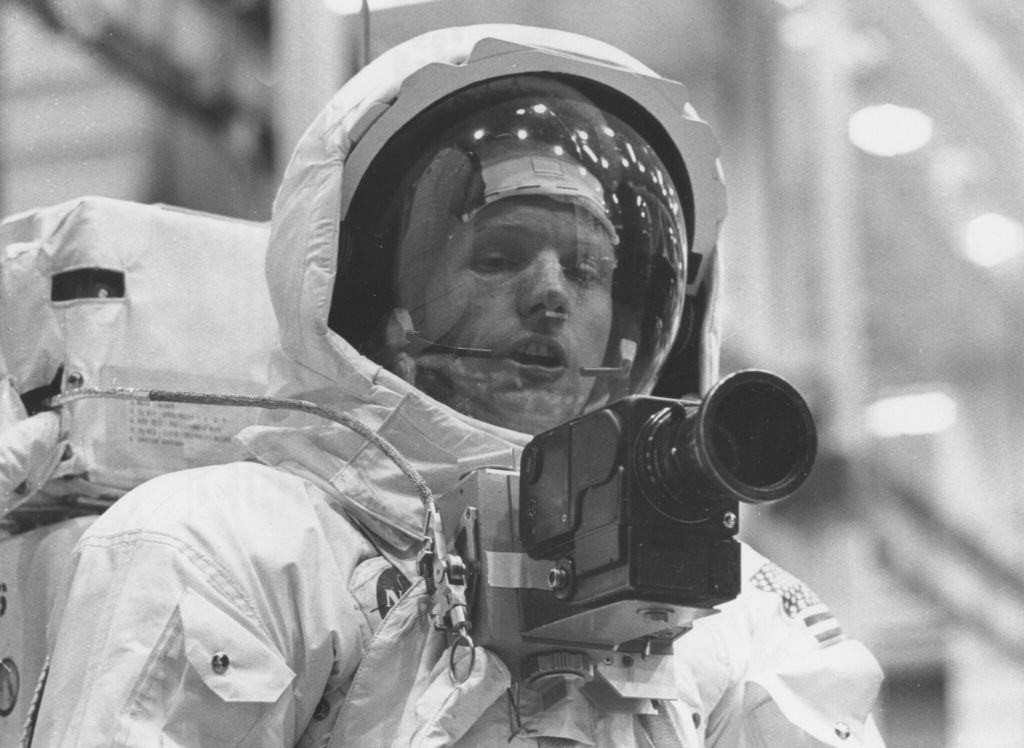 Apollo 11 Spacecraft Commander Neil Armstrong in the spacesuit. Photo by NASA/Project Apollo Archive