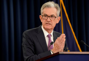 FILE PHOTO: Federal Reserve Chairman Jerome Powell holds a news conference following a two-day Federal Open Market Committee meeting in Washington, on June 19, 2019. Photo by Kevin Lamarque/File Photo/Reuters