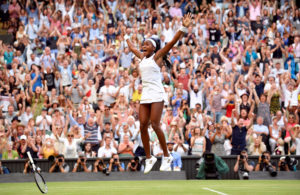 Tennis - Wimbledon - All England Lawn Tennis and Croquet Club, London, Britain - July 5, 2019 Cori Gauff of the U.S. celebrates winning her third round match against Slovenia's Polona Hercog. Photo by: Toby Melville/Reuters