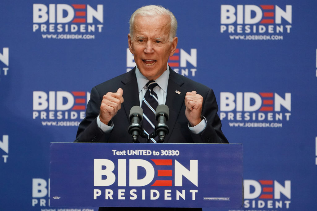 Democratic 2020 U.S. presidential candidate and former Vice President Joe Biden speaks at The Graduate Center of CUNY in the Manhattan borough of New York, New York, U.S., July 11, 2019. REUTERS/Carlo Allegri - RC1FE085A950