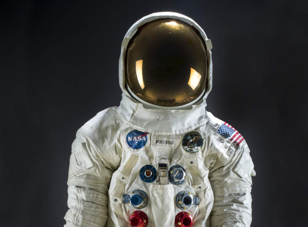 Neil Armstrong's Apollo 11 spacesuit. Photo courtesy: Smithsonian Institution