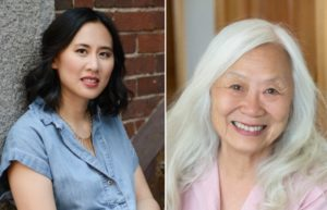 "Authors Celeste Ng (L) and Maxine Hong Kingston (R). Ng chose Kingston's ""The Woman Warrior"" for the August book club pick. Credit: Kevin Day Photography and Maryanne Teng Hogarth."