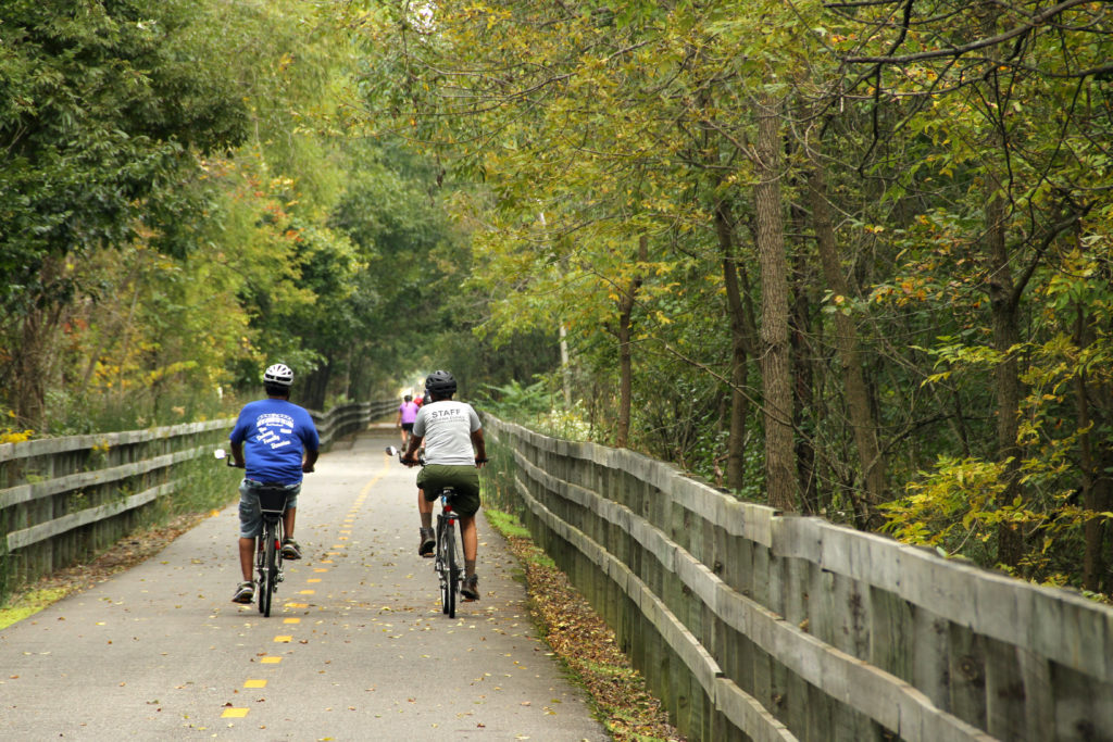 People bike along the Oak Savannah Trail at the Indiana Dunes Ntional Park on Sept. 20, 2014. Photo courtesy: Indiana Dunes National Park/Flickr