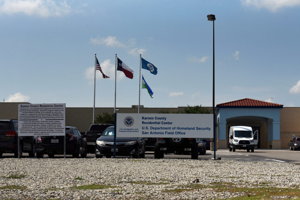 The Karnes County Residential Center, a facility that houses migrant families, is seen in Karnes City, Texas, on July 25, 2018.  Photo by Callaghan O'Hare/Reuters
