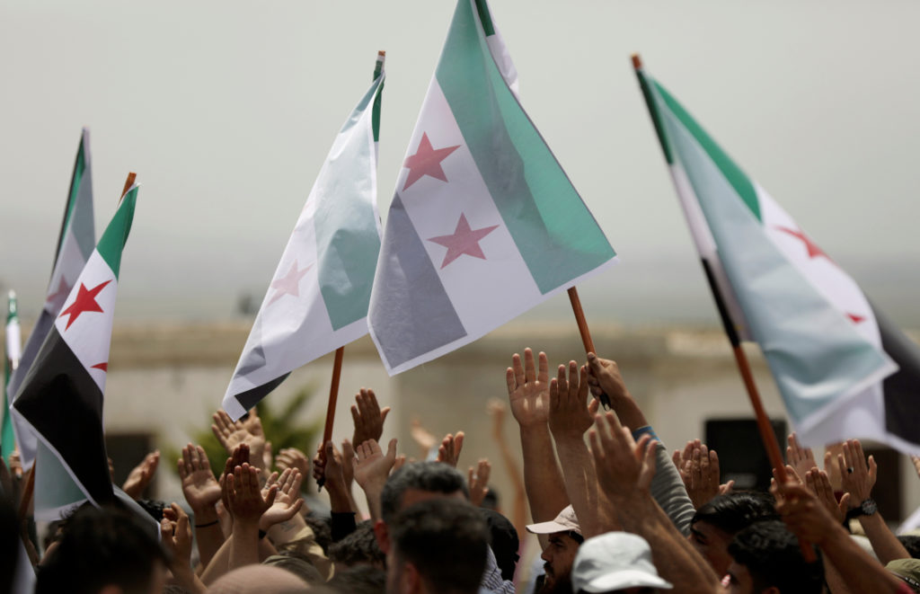 Syrian rebels walk out of press conference as 'safe zone