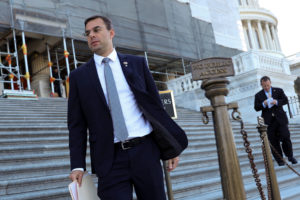 U.S. Representative Justin Amash (I-MI), recently having left the Republican Party after voicing support for an impeachment inquiry into President Donald Trump, departs after a series of votes at the U.S. Capitol in Washington, U.S. July 10, 2019. Photo by Jonathan Ernst/Reuters