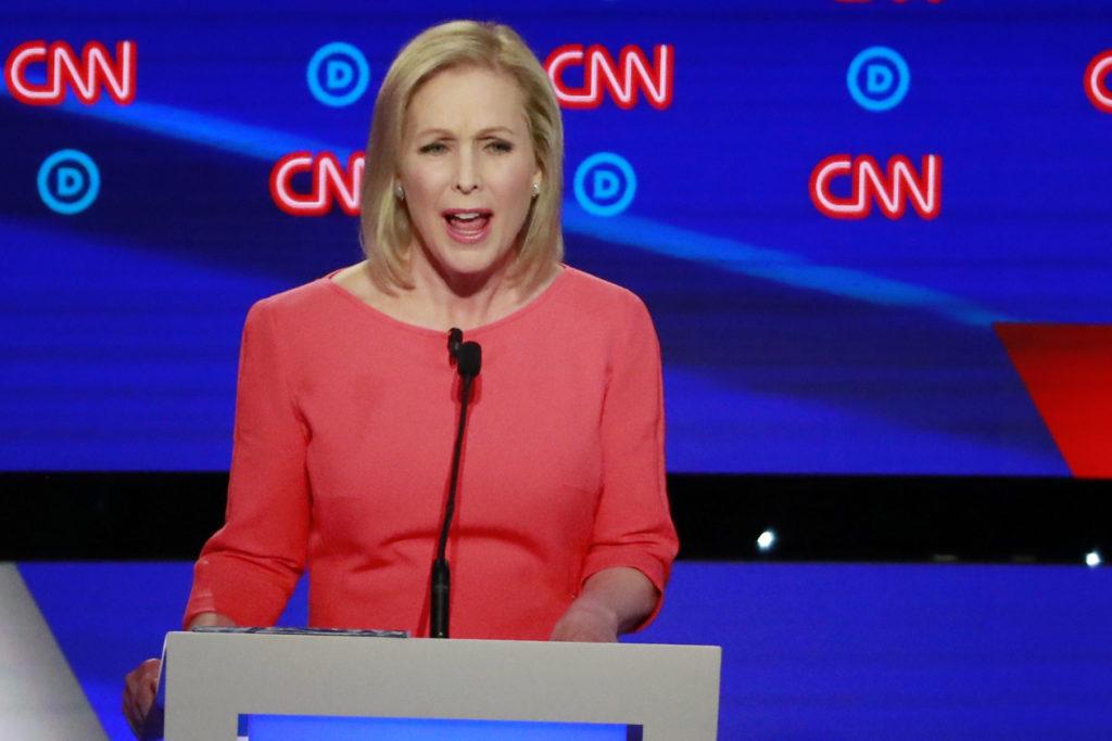 U.S. Senator Kirsten Gillibrand speaks on the second night of the s…